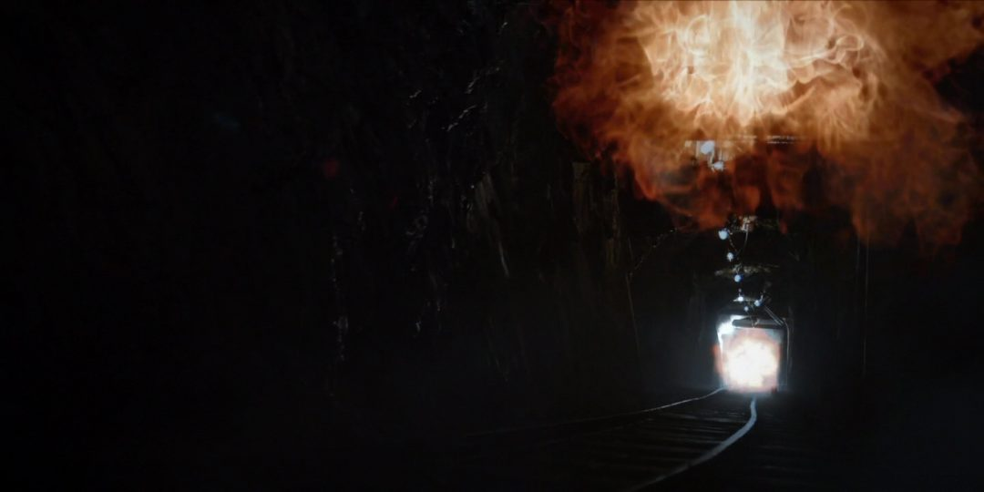 47 - The warhead detonating in the mine