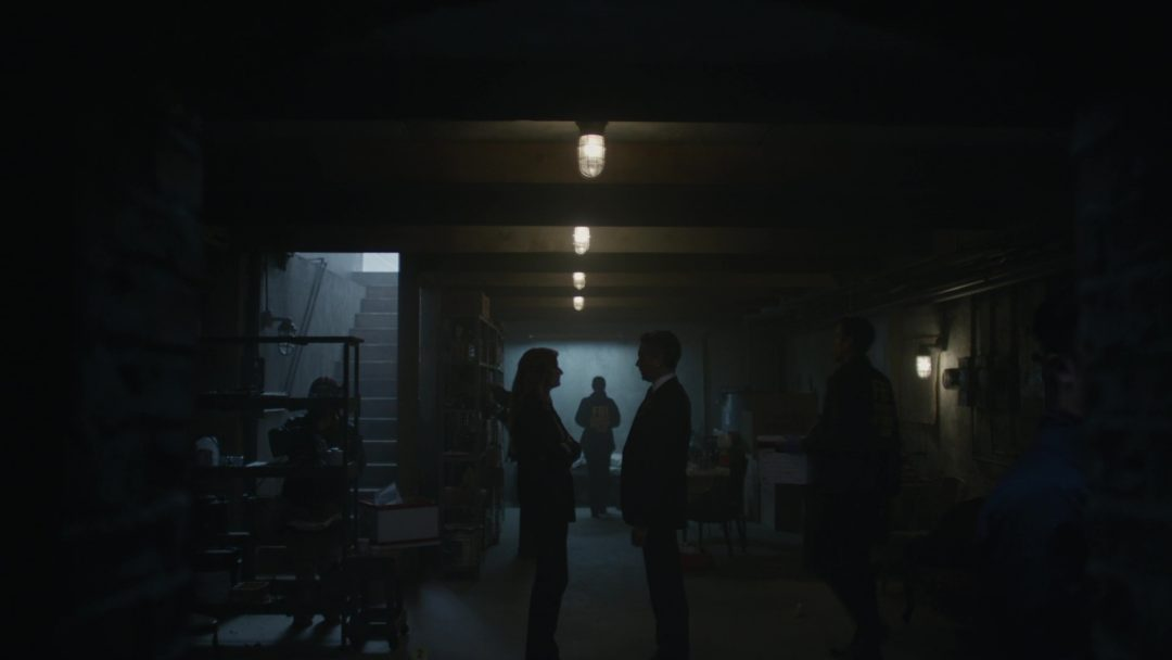 48 - Dom, Santiago and forensics teams in the Tyrell crimescene in the Red Wheelbarrow basement