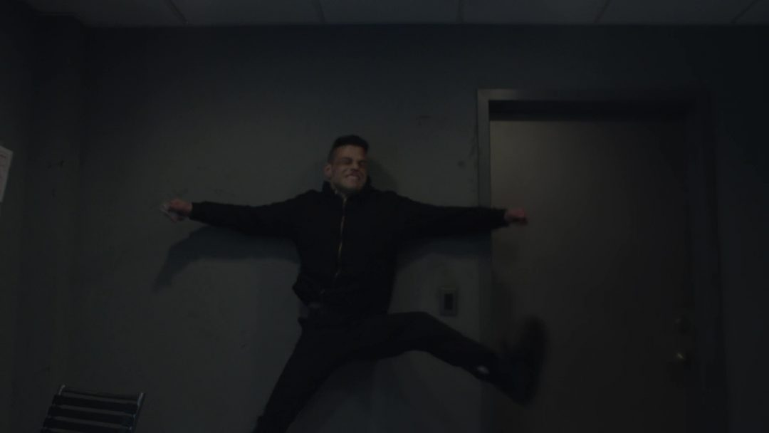 49 - Mr. Robot throwing Elliot into a wall