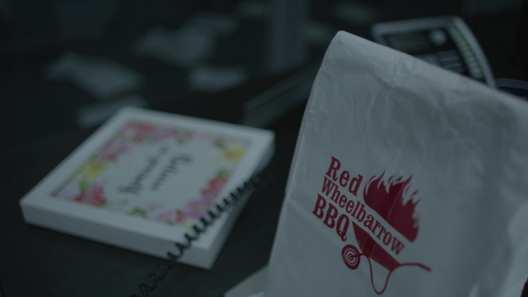 7 - Angela's mysterious Red Wheelbarrow bag