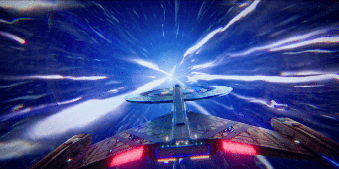 A rare look at Star Trek Discovery's warp speed animation