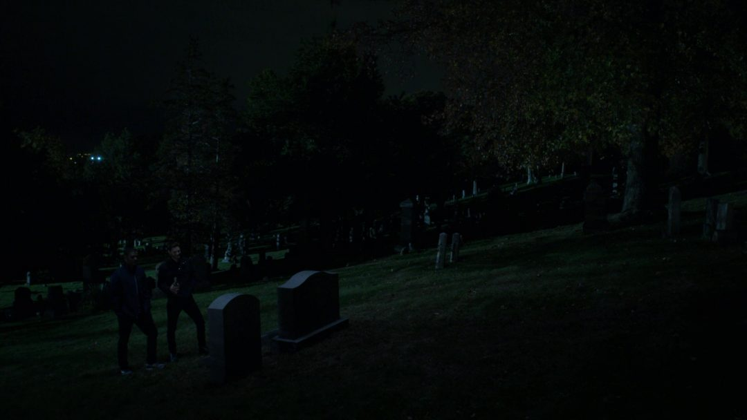 Curtis and Billy Russo visit Frank Castle's grave