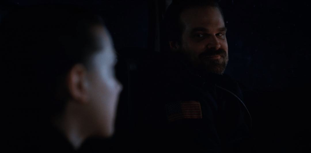 Hopper and El's reunion