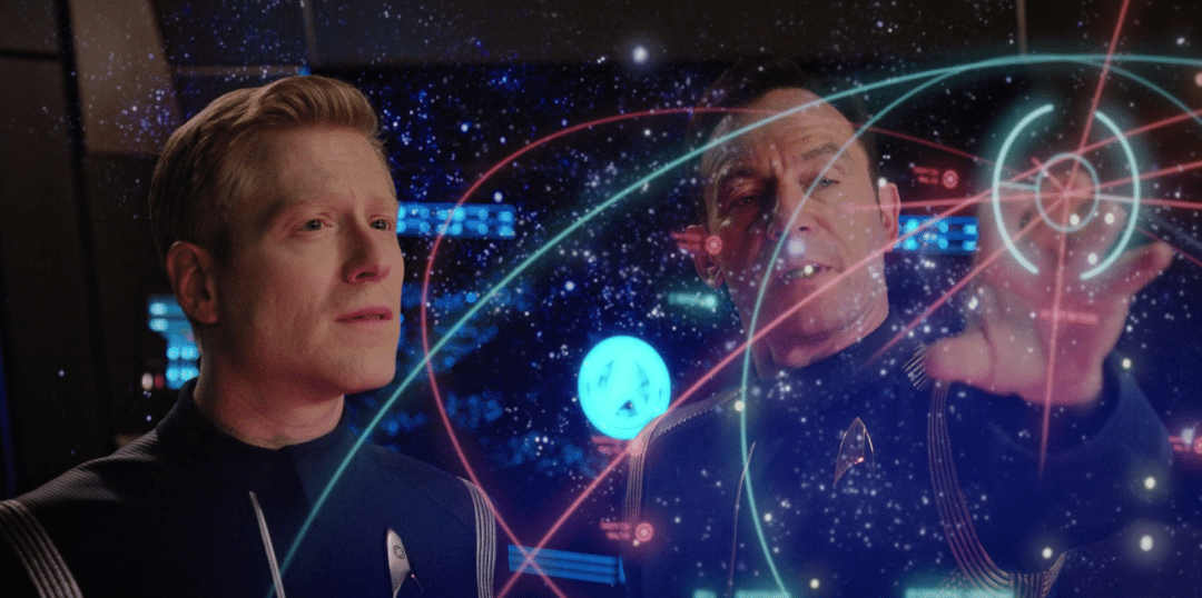 Lorca tells Stamets about parallel universes