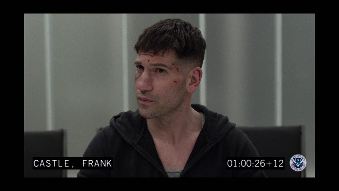 (1) The Punisher gets interviewed by Agent Dinah Madani