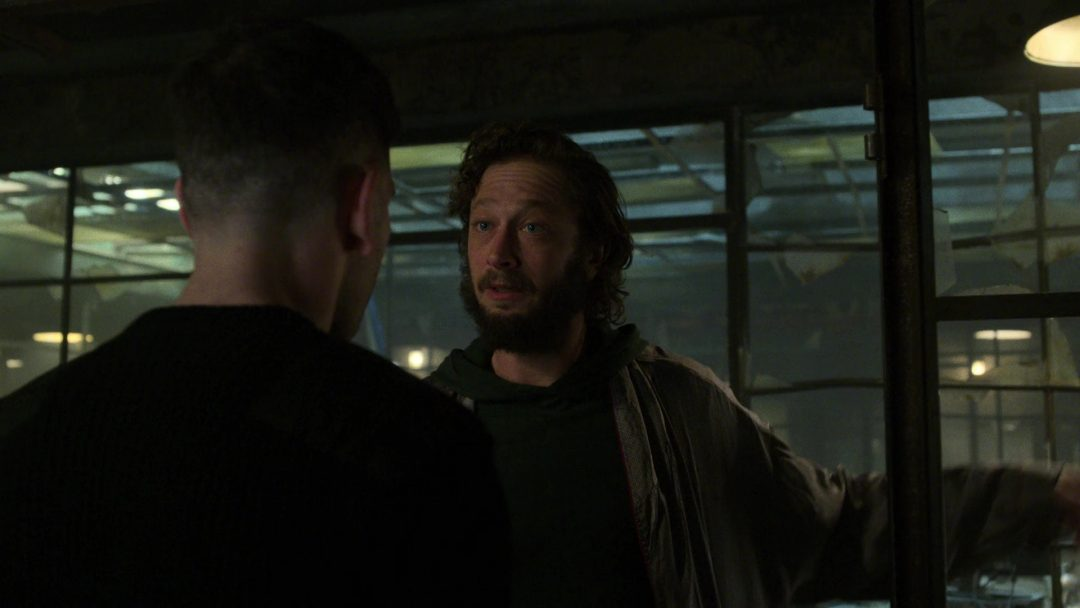 (15) Micro tries to convince The Punisher not to go on a stupid killing spree that's doomed to fail