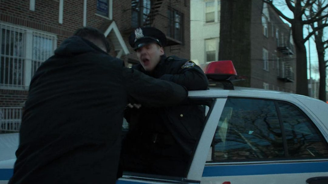 (28) He's intercepted by the cops, but he easily overpowers them