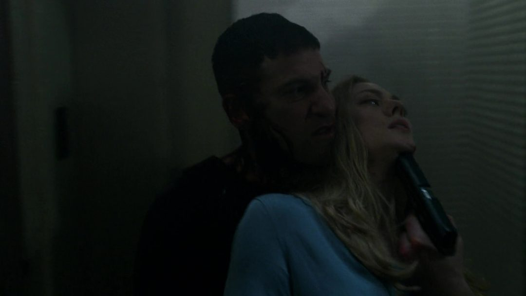 (38) The Punisher uses Karen to escape