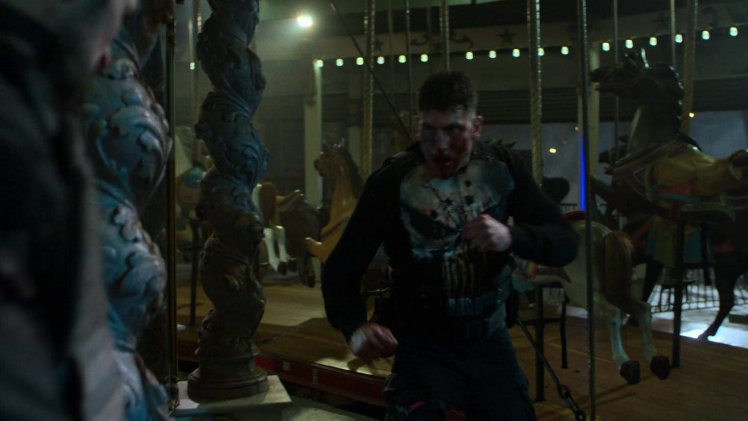 (38) The Punisher's fists are a pretty even match for Russo's two knives