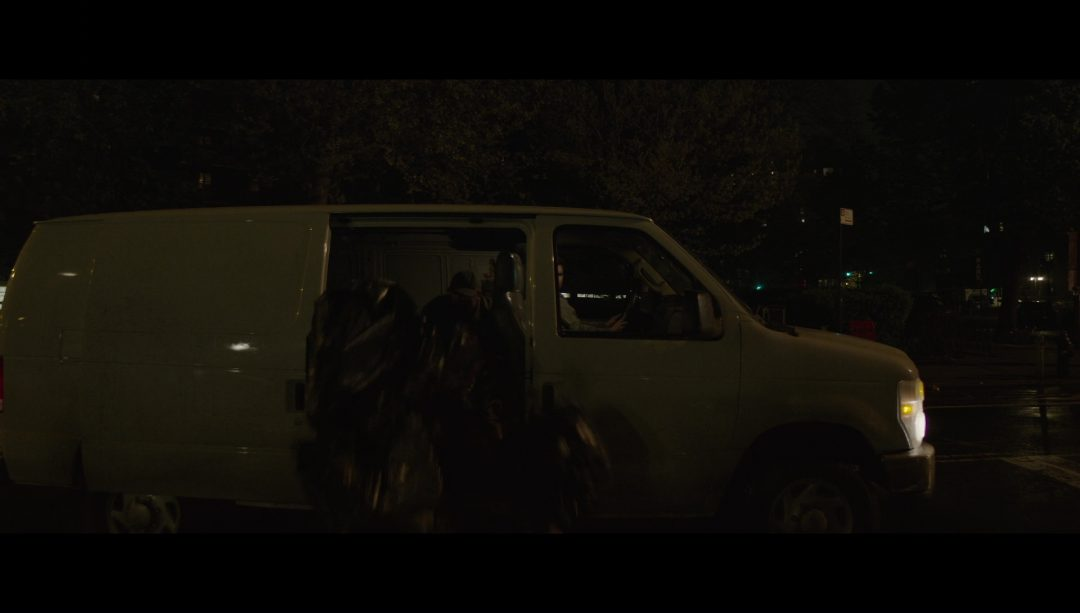 49 - A van dumps garbage in front of Elliot's apartment building. Mr. Robot's jacket is back!
