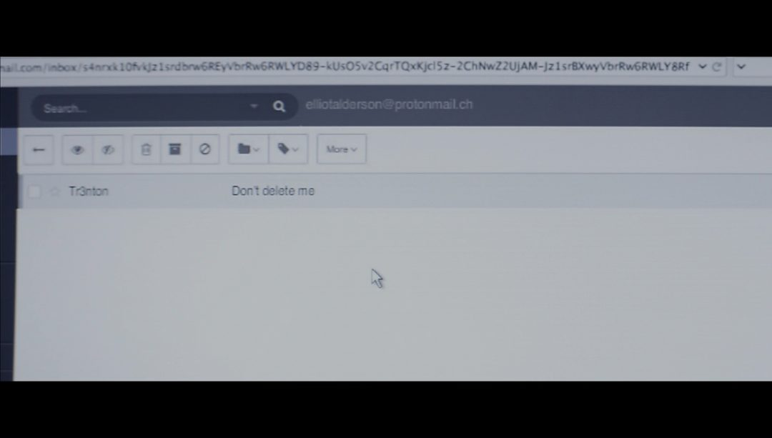 53 - Elliot logs into ProtonMail and finds a surprise message from Trenton