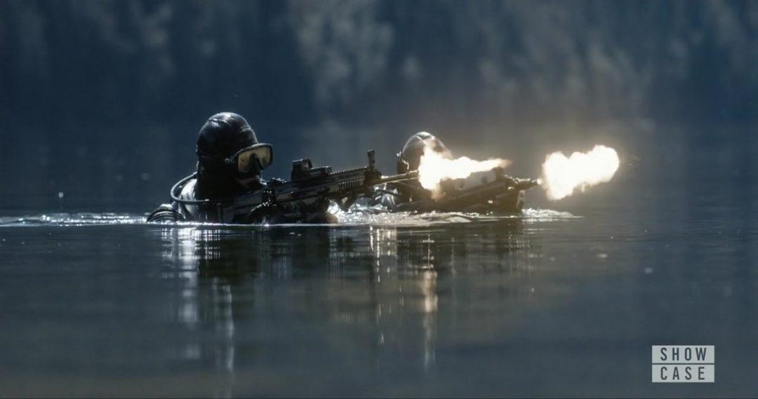 7 - The scuba-men, shooting the team