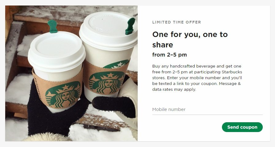 Deal of the Day: Starbucks Has a New BOGO Coupon, Here's How to Get One