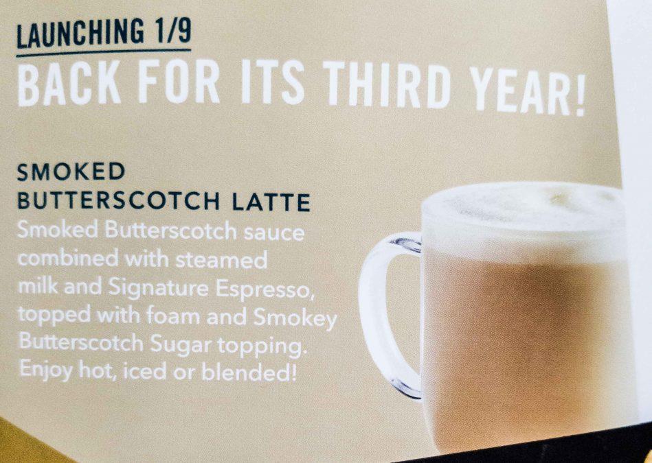14 - Starbucks Smoked Butterscotch Latte returns for Winter 2018