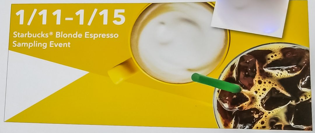 19 - Starbucks Blonde Espresso release date - 1-11-2018. I'm ready.