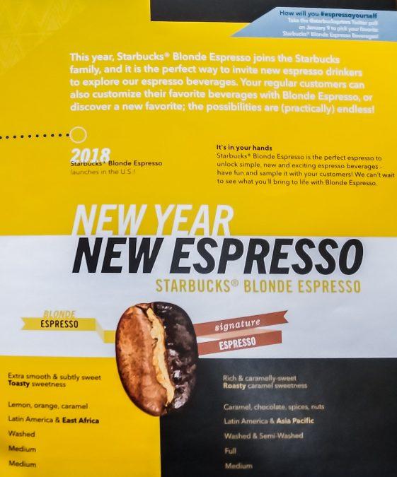 4 - Starbucks Blonde Espresso is coming
