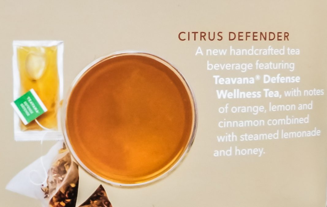 8 - Starbucks Citrus Defender, new for Winter 2018. A hot tea cocktail, like the Medicine Ball